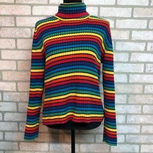 Vintage Rainbow Tommy Hilfiger Turtleneck